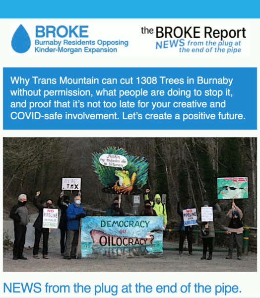 [The BROKE Report #1: Why TransMountain can cut 1308 Trees in Burnaby without permission, what people are doing to stop it, and proof that it's not too late for your creative and COVID-safe involvement. Let's create a positive future.]